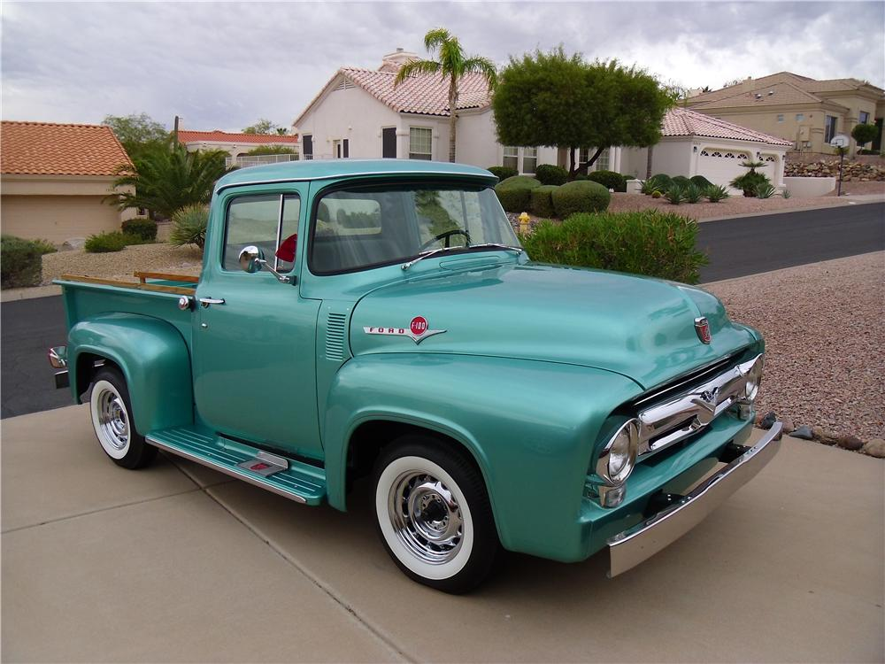 1956 FORD F-100 CUSTOM PICKUP - Front 3/4 - 116214