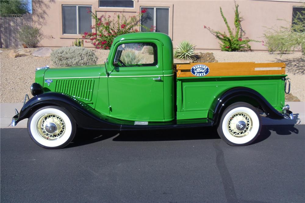 1936 FORD PICKUP - Side Profile - 116216