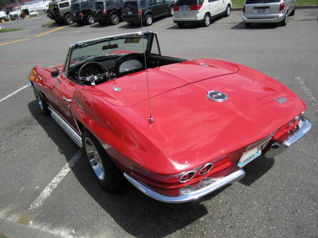 1967 CHEVROLET CORVETTE CONVERTIBLE - Rear 3/4 - 116220