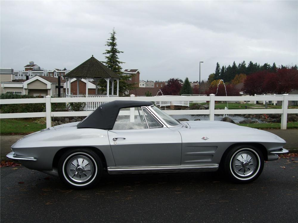 1964 CHEVROLET CORVETTE CONVERTIBLE - Side Profile - 116230