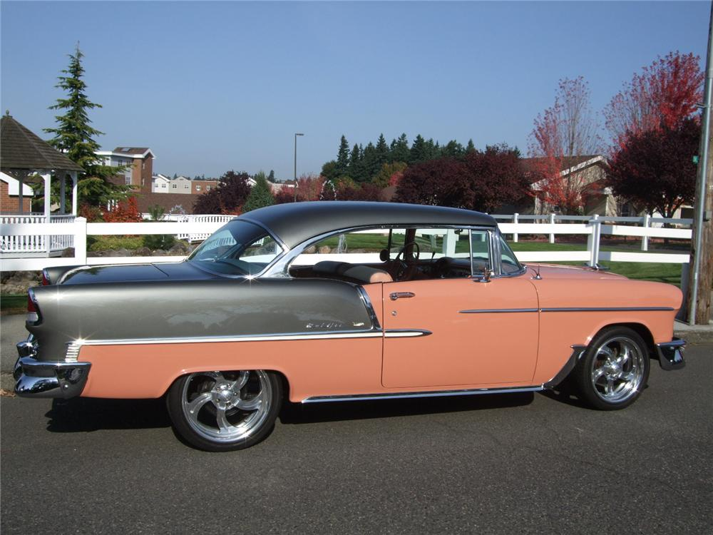 1955 CHEVROLET BEL AIR CUSTOM 2 DOOR HARDTOP - Side Profile - 116232