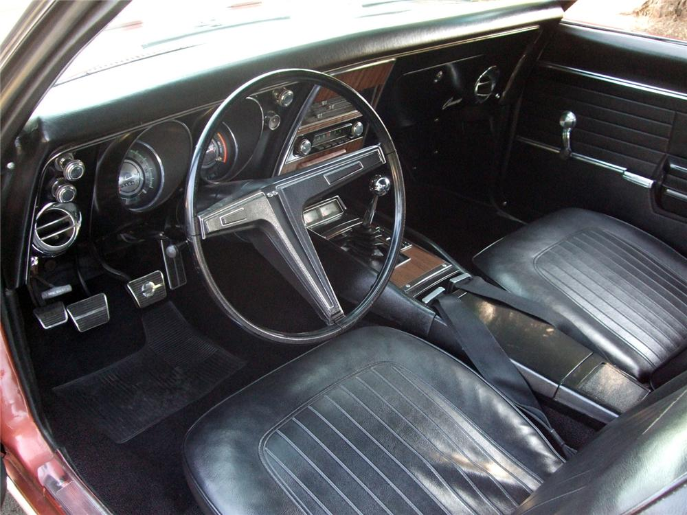 1968 CHEVROLET CAMARO SS CONVERTIBLE - Interior - 116233