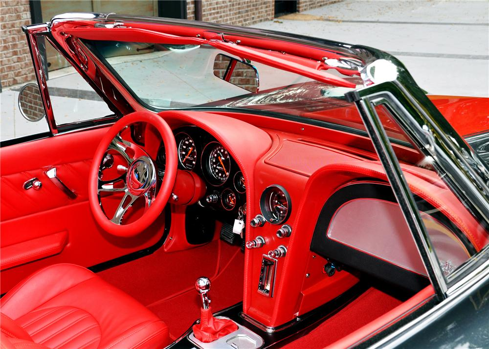 1966 CHEVROLET CORVETTE CUSTOM CONVERTIBLE - Interior - 116240