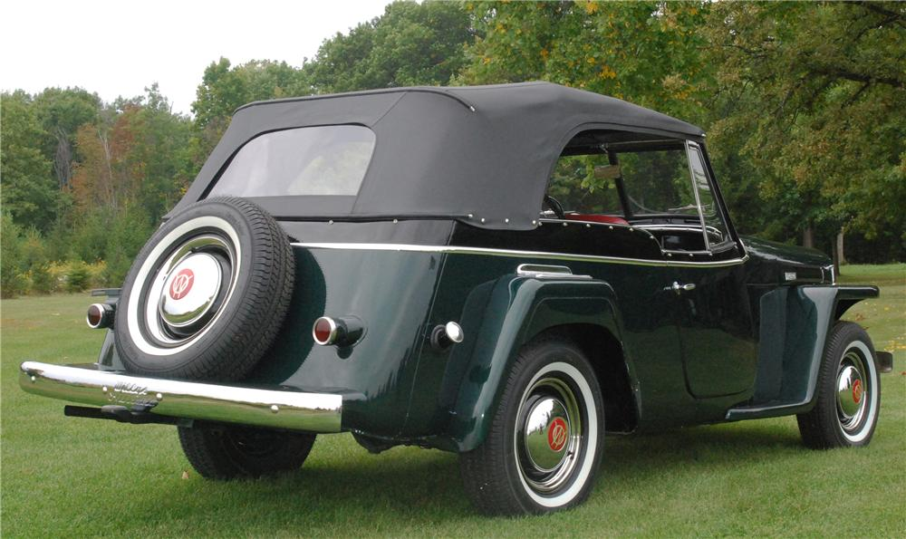 1949 WILLYS JEEPSTER CONVERTIBLE - Rear 3/4 - 116244