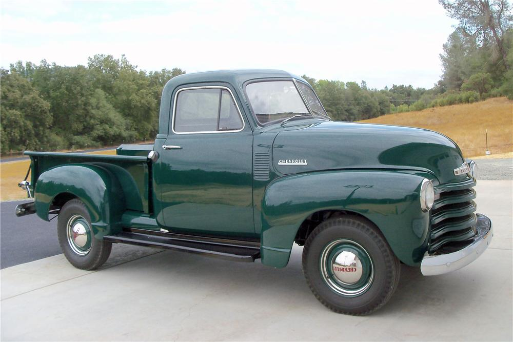 1952 CHEVROLET STEPSIDE PICKUP - Front 3/4 - 116245