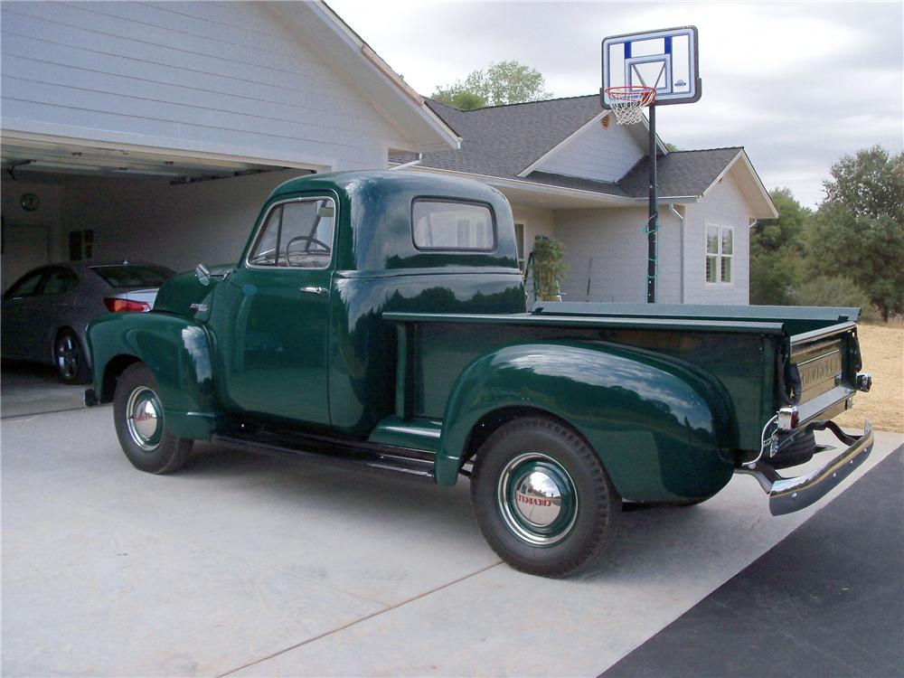 1952 CHEVROLET STEPSIDE PICKUP - Rear 3/4 - 116245