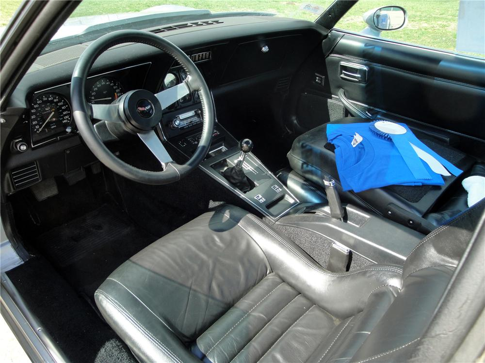 Interior: 1979 CHEVROLET CORVETTE 2 DOOR COUPE