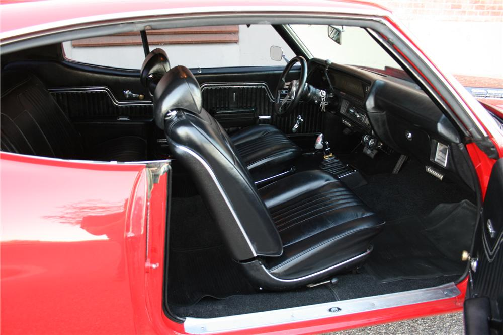 1971 CHEVROLET CHEVELLE CUSTOM COUPE - Interior - 116251