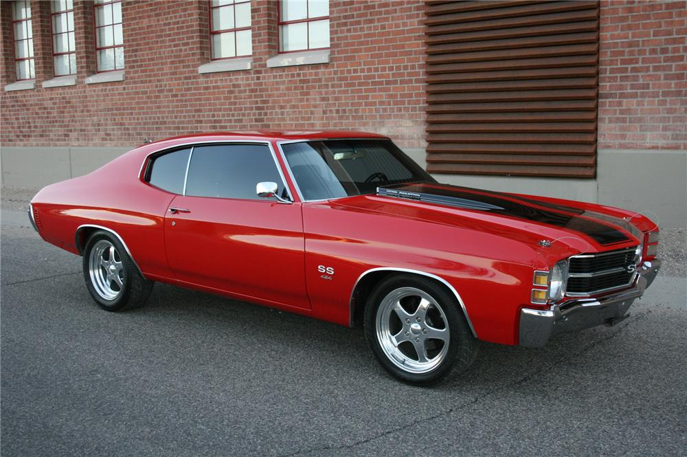 1971 CHEVROLET CHEVELLE CUSTOM COUPE - Side Profile - 116251