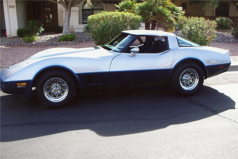 1981 CHEVROLET CORVETTE 2 DOOR COUPE - Side Profile - 116253