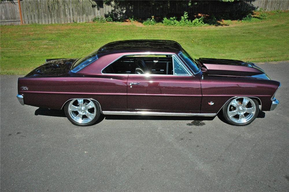 1967 CHEVROLET NOVA CUSTOM 2 DOOR HARDTOP - Side Profile - 116277