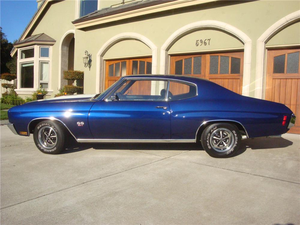 1970 CHEVROLET CHEVELLE HARDTOP SS 454 RE-CREATION - Side Profile - 116280