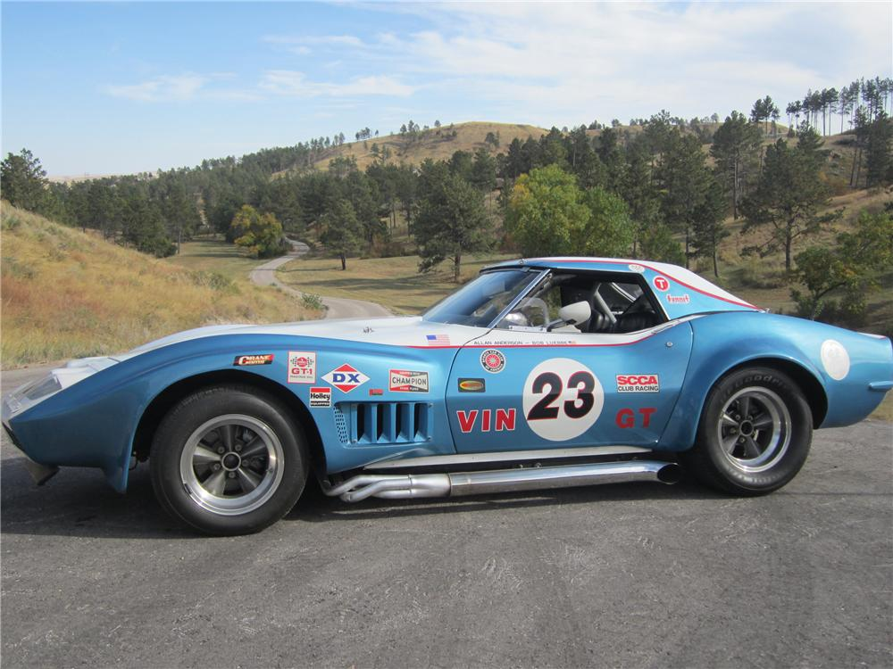 1969 CHEVROLET CORVETTE CUSTOM RACE CAR - Side Profile - 116283