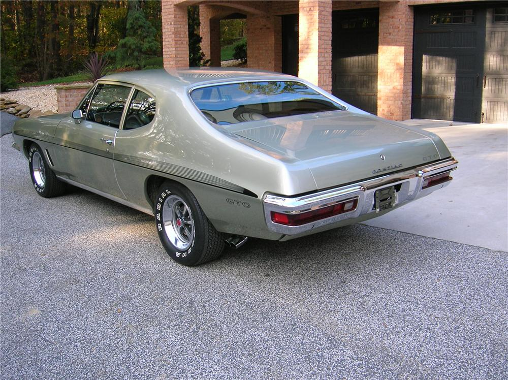 1972 PONTIAC GTO 2 DOOR COUPE - Rear 3/4 - 116300