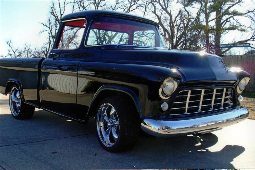 1955 CHEVROLET CAMEO CUSTOM PICKUP - Front 3/4 - 116331