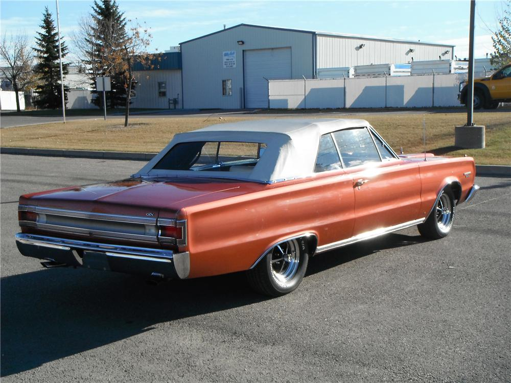 1967 PLYMOUTH GTX CONVERTIBLE - Rear 3/4 - 116334