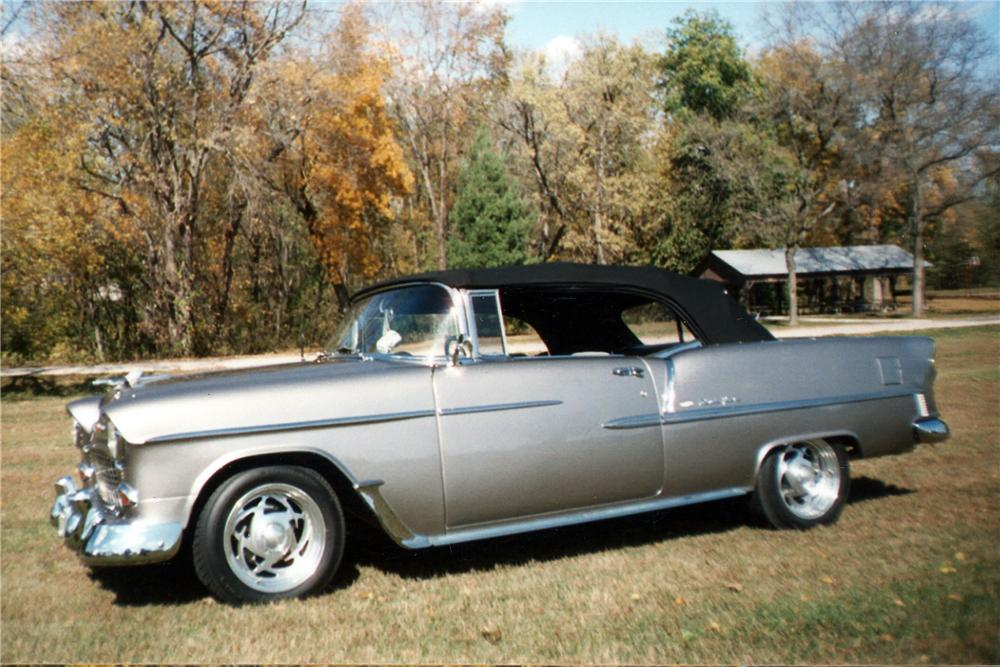 1955 CHEVROLET BEL AIR CUSTOM CONVERTIBLE - Side Profile - 116355