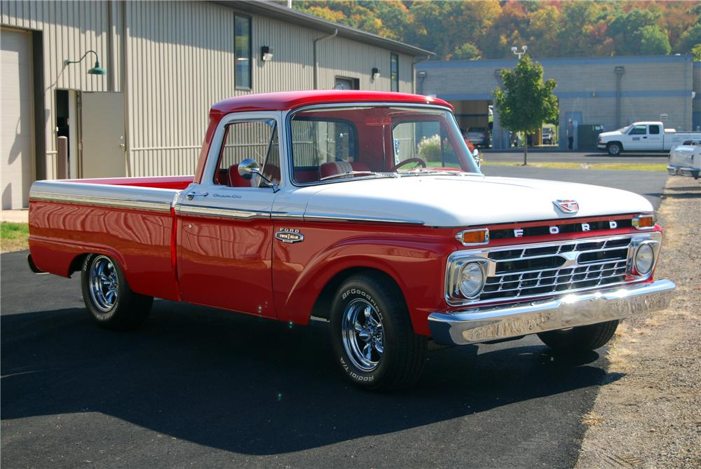 1966 FORD F-100 CUSTOM PICKUP - Front 3/4 - 116362