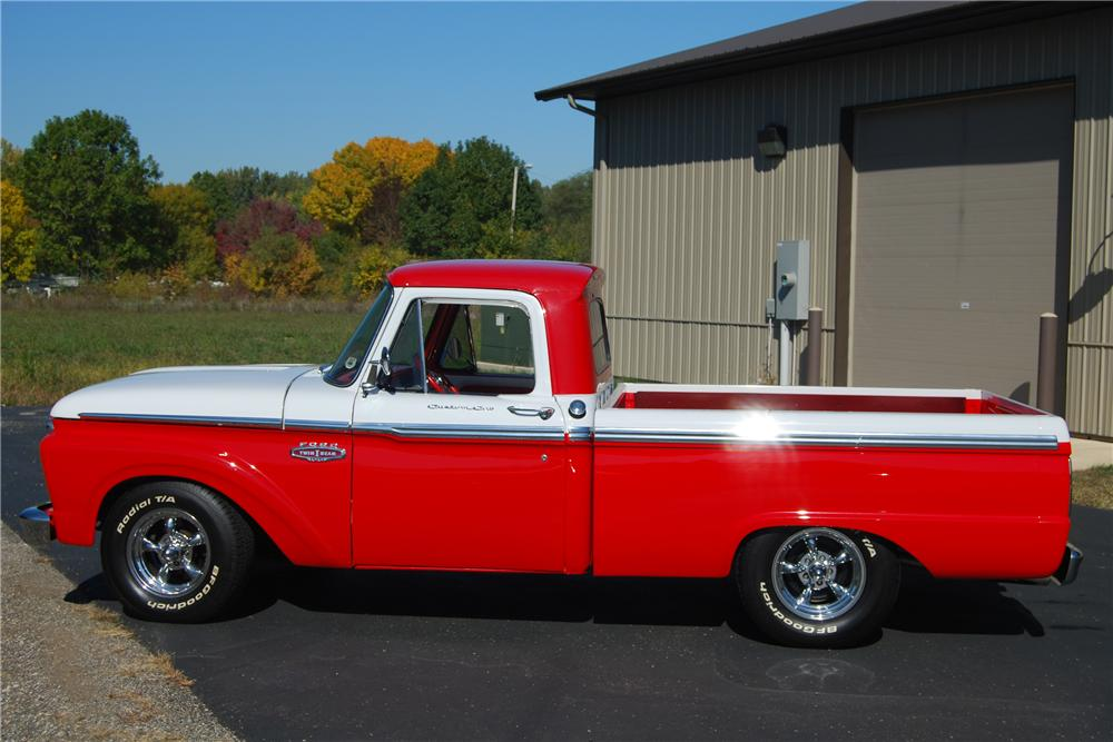1966 FORD F-100 CUSTOM PICKUP - Side Profile - 116362
