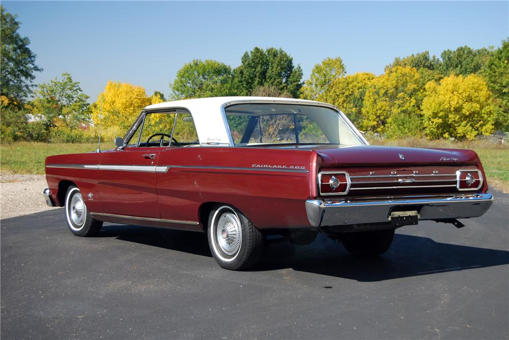 1965 FORD FAIRLANE 500 SPORT COUPE - Rear 3/4 - 116365