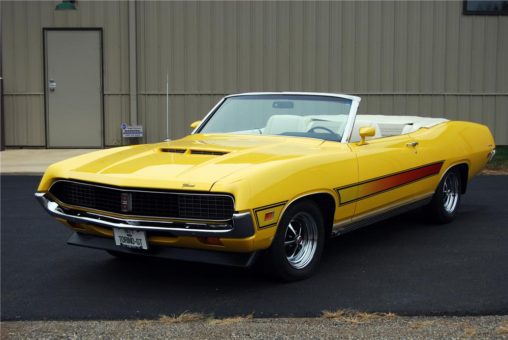 1971 FORD TORINO GT CONVERTIBLE - Front 3/4 - 116366