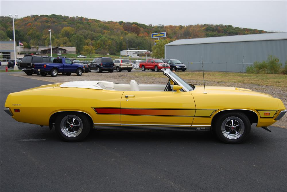 1971 FORD TORINO GT CONVERTIBLE - Side Profile - 116366