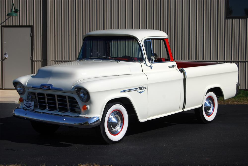 1955 CHEVROLET CAMEO CUSTOM PICKUP - Front 3/4 - 116367