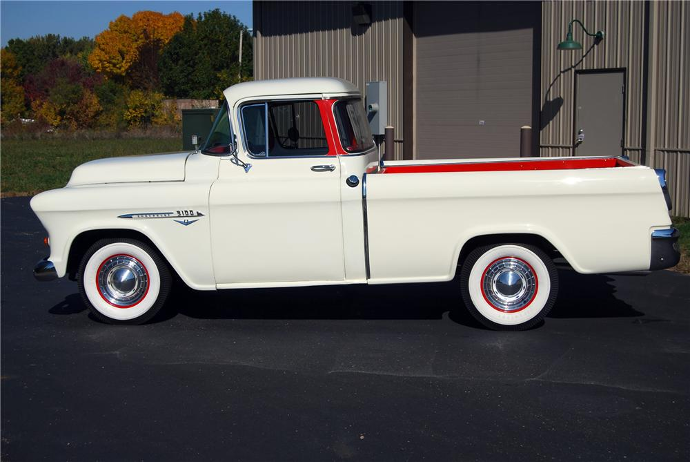 1955 CHEVROLET CAMEO CUSTOM PICKUP - Side Profile - 116367
