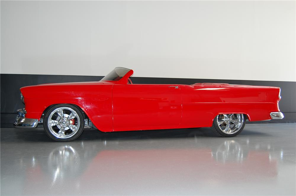1955 CHEVROLET 210 CUSTOM TOPLESS ROADSTER - Side Profile - 116371