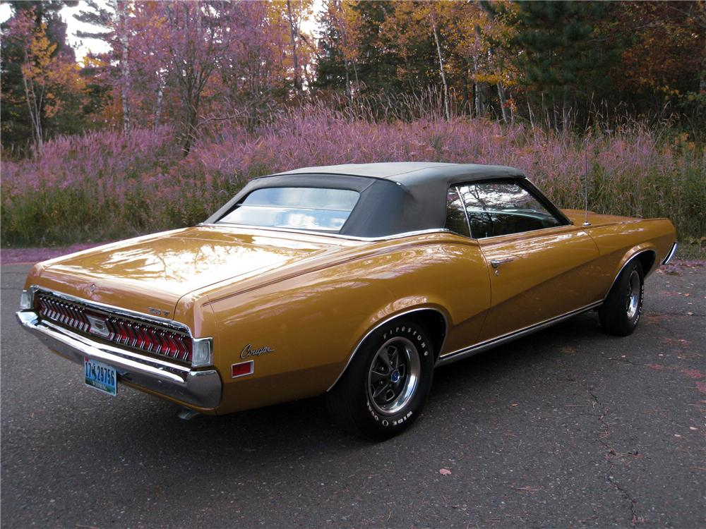 1970 MERCURY COUGAR XR7 CONVERTIBLE - Rear 3/4 - 116372