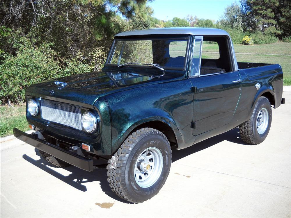 1966 INTERNATIONAL SCOUT CUSTOM PICKUP - Front 3/4 - 116373