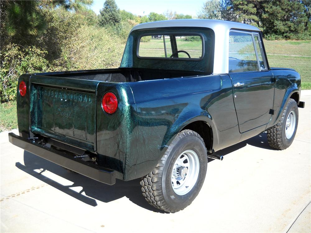 1966 INTERNATIONAL SCOUT CUSTOM PICKUP - Rear 3/4 - 116373