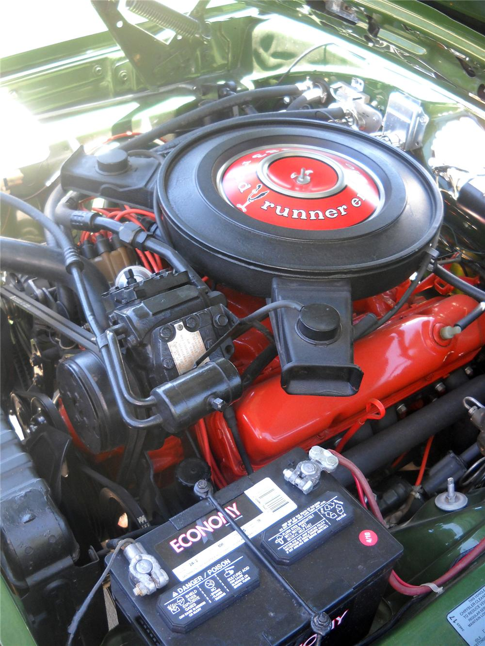1970 PLYMOUTH ROAD RUNNER 2 DOOR COUPE - Engine - 116376