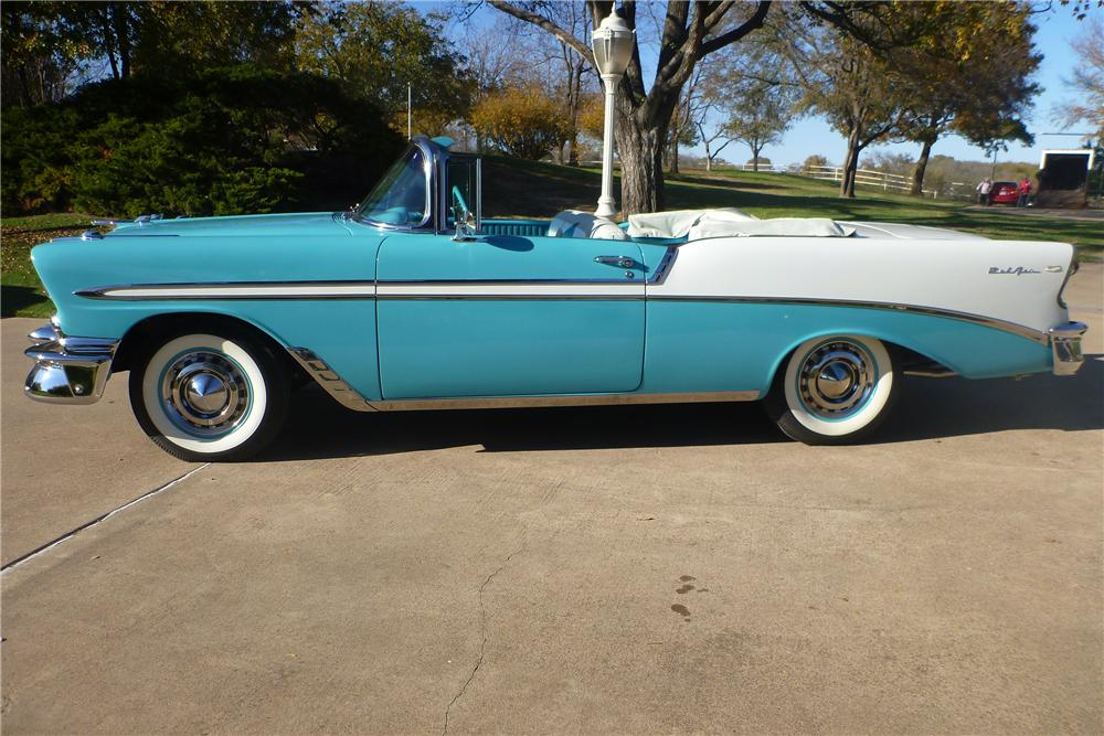 1956 CHEVROLET BEL AIR CONVERTIBLE - Side Profile - 116377