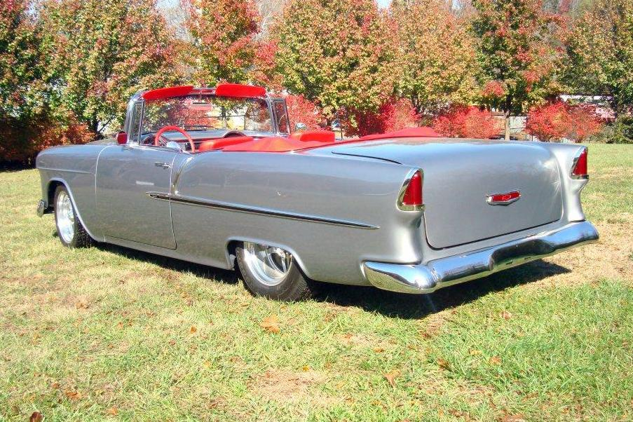 1955 CHEVROLET CUSTOM CONVERTIBLE - Rear 3/4 - 116386