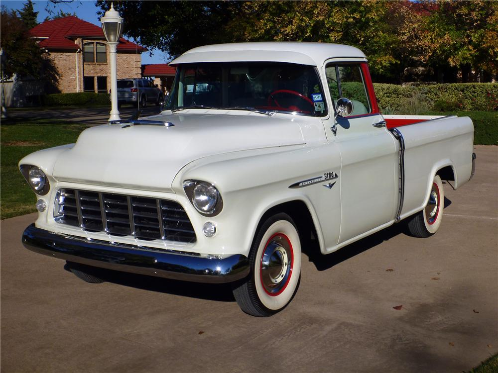 1955 CHEVROLET CAMEO PICKUP - Front 3/4 - 116389