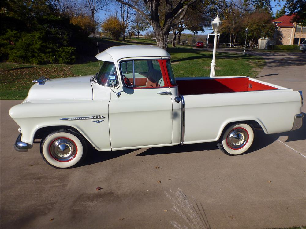1955 CHEVROLET CAMEO PICKUP - Side Profile - 116389