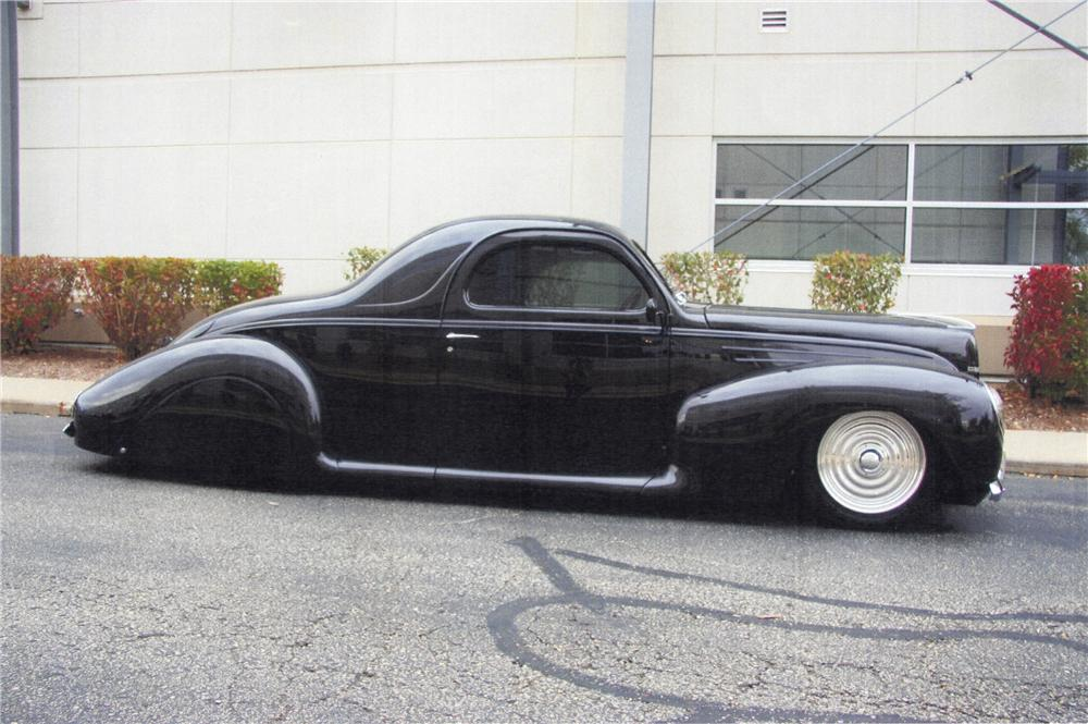 1939 lincoln zephyr custom 2 door coupe side profile 116393
