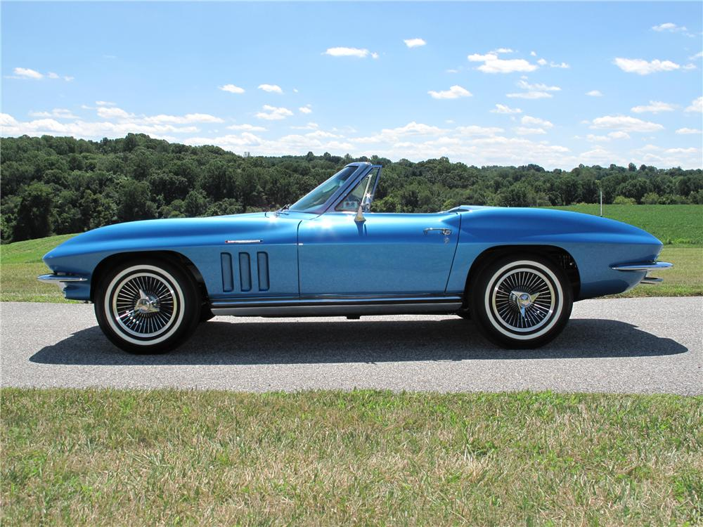 1965 CHEVROLET CORVETTE CONVERTIBLE - Side Profile - 116398