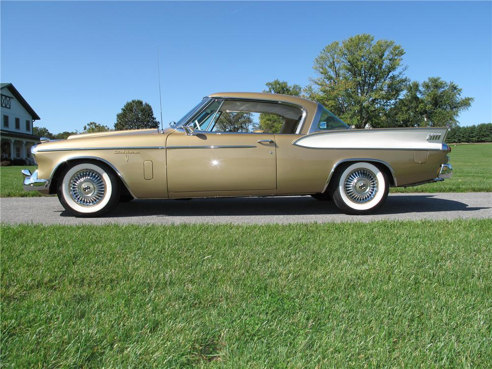 1957 STUDEBAKER GOLDEN HAWK 2 DOOR COUPE - Side Profile - 116401