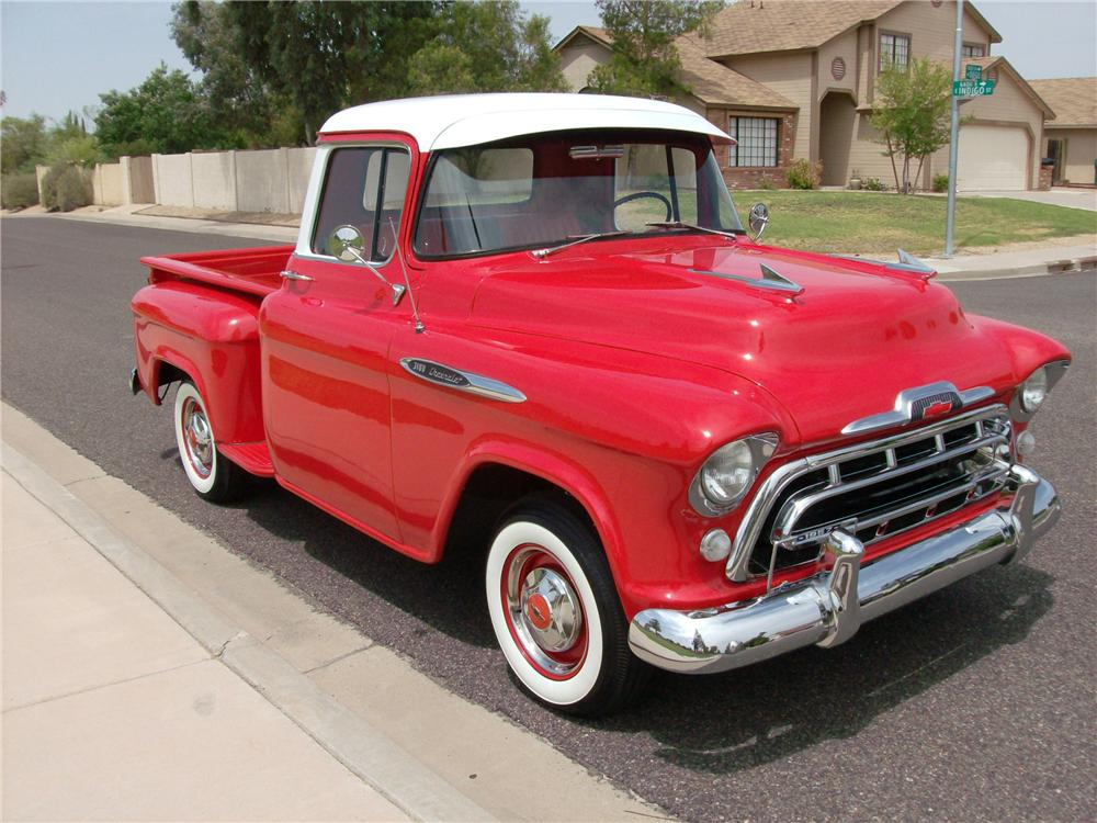 1957 CHEVROLET 3100 PICKUP - Front 3/4 - 116402