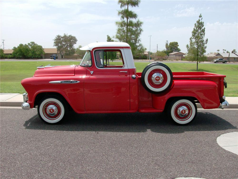 1957 CHEVROLET 3100 PICKUP - Side Profile - 116402