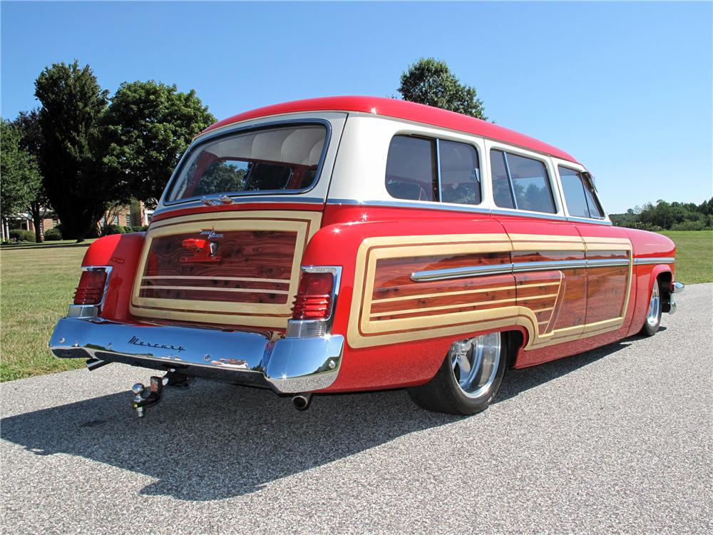 1954 MERCURY MONTEREY CUSTOM WOODY WAGON - Rear 3/4 - 116403