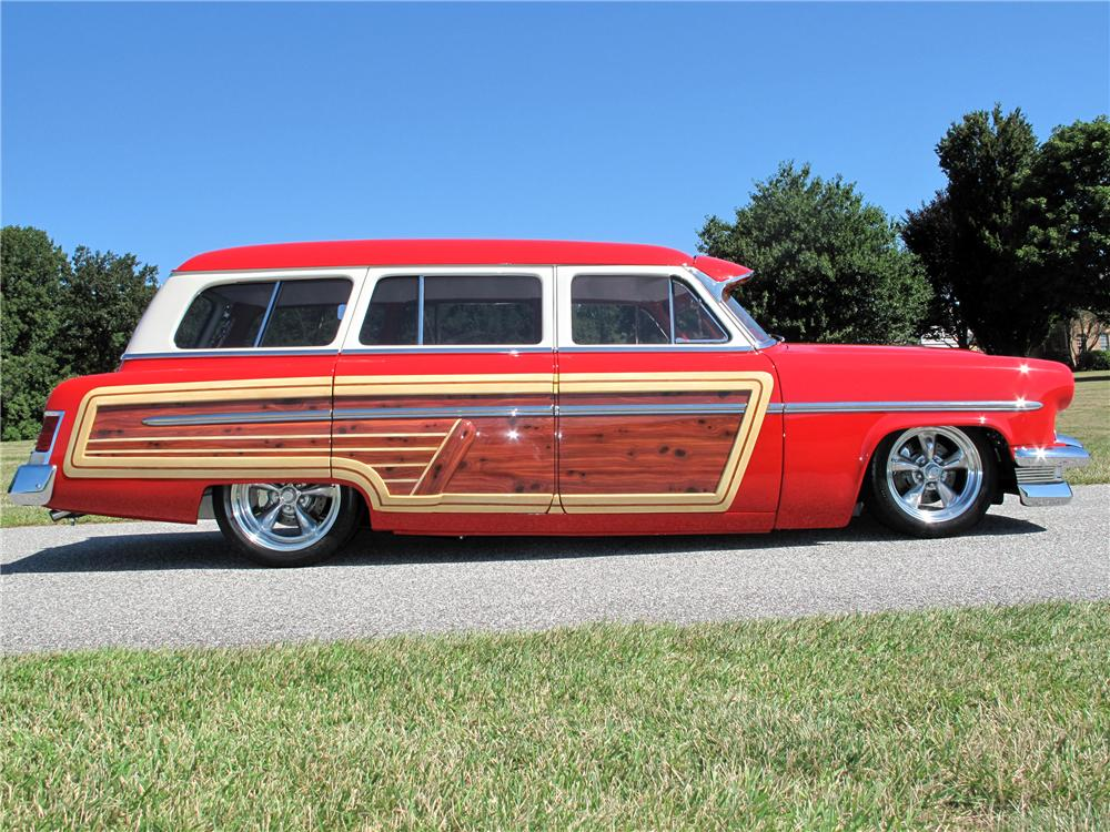 1954 MERCURY MONTEREY CUSTOM WOODY WAGON - Side Profile - 116403