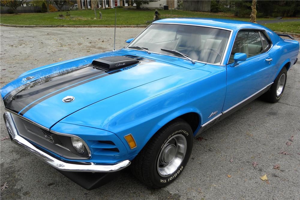 1970 FORD MUSTANG MACH 1 FASTBACK - Front 3/4 - 116410