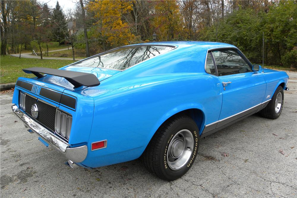 1970 FORD MUSTANG MACH 1 FASTBACK - Rear 3/4 - 116410