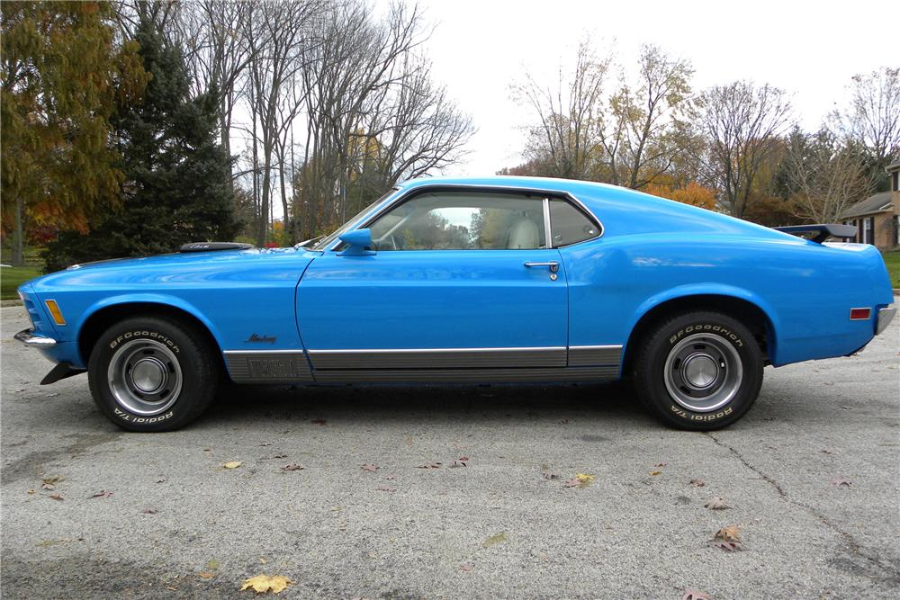 1970 FORD MUSTANG MACH 1 FASTBACK - Side Profile - 116410