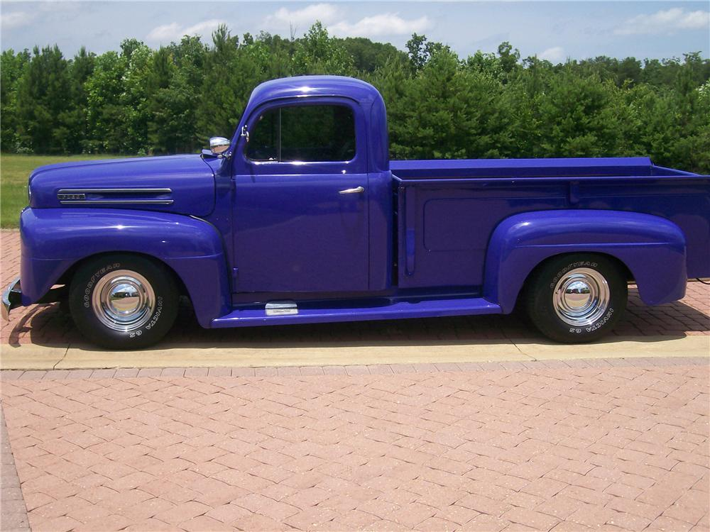 1950 FORD CUSTOM PICKUP - Side Profile - 116414