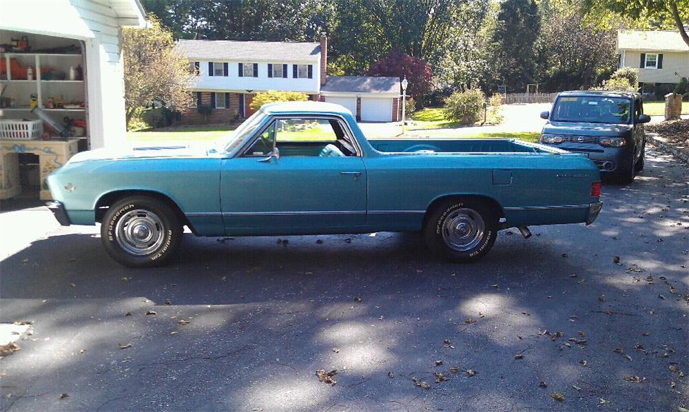 1967 CHEVROLET EL CAMINO PICKUP - Side Profile - 116415