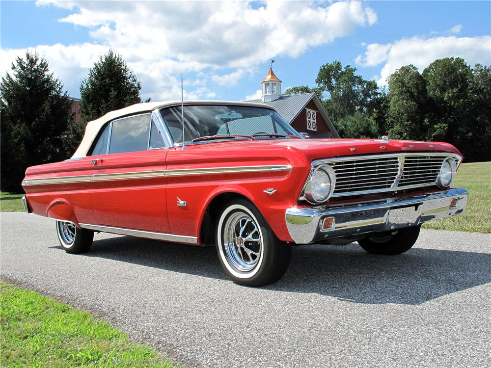 1965 FORD FALCON CONVERTIBLE - Front 3/4 - 116423